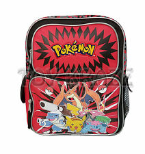 "POKEMON TODDLER BACKPACK! BLACK & RED SMALL BOYS SCHOOL BOOK BAG 12"" NWT"