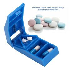 Medicine Pill Splitter Crusher Tablet Divider Cutter Elderly Kids Tablet Storage