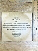 """Westclox Big Ben No.69 Convex Clock Glass (4.24"""" / 107.6mm Diameter)(Lot K3039)"""