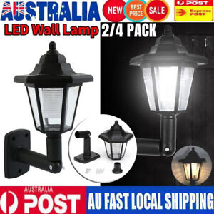 AU Solar LED Light Outdoor Garden Wall Pathway Light Lamp Lantern Wall Mounted