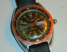 Rare Clinton Swiss 17 Jewel Mens Automatic Watch w/ World time bezel