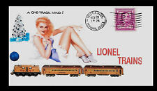 Lionel 408E Engine With Pin Up Girl Featured on Xmas Collector's Envelope *A251