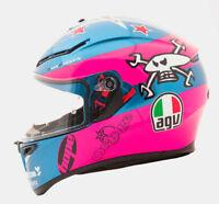 AGV K3 SV Guy Martin Isle Of Man TT Replica Motorcycle Helmet - Pink/Blue