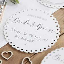 Wedding Advice for The Bride & Groom Drink Coasters Alternative Guest Book