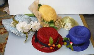 Lot of 5 Vintage 1980s Doll Hats  P26