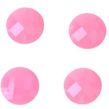100x Wholesale Pink Sew-on Rhinestone Embellishment Flatback Buttons Findings L