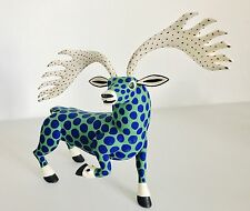 Deer Wood Carving Alebrije Sculpture Oaxaca Mexican Art