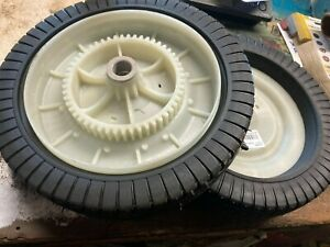 SET OF TWO  OEM Agri-Fab AGR-44985 TIRE/WHEEL Fits Lawn GRASS Sweeper Craftsman