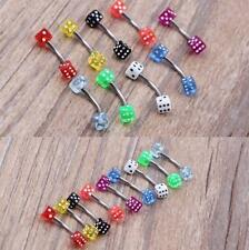 9pcs Wholesale Body Jewelry Eyebrow Navel Belly Tongue Nose Piercing Bar Ring