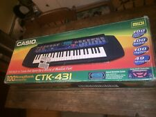 Casio CTK-431 49 Key Keyboard Synthesizer Music Stand Original Box Stand Manual