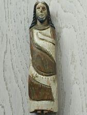 Antico Christ sindone in legno policromo reliquiario XVIII ° Art popolare
