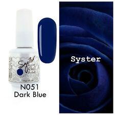 SYSTER 15ml Nail Art Soak Off Color UV Lamp Gel Polish N051 - Dark Blue