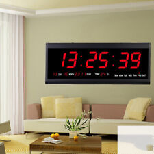 reloj de pared digital led tiempo calendario temperatura despertador