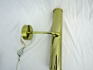 Vintage Poole Lighting Picture Lamp brass 30W