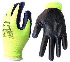 (Box Deal) Better Grip Men's Nitrile Palm Coated Work Gloves -BGNITRILE-LM-144