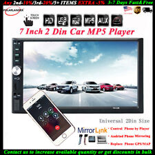 7'' 2 DIN Touch Screen Car Radio MP5 BT Stereo Audio USB/TF/AUX/FM/Remote