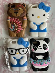 Kitty Bear Panda Apple iphone SE 5 Case Silicone phone case cover
