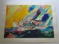 LEROY NEIMAN GIANT SERIGRAPH SILKSCREEN LIMITED HAND SIGNED NAUTICAL VINTAGE