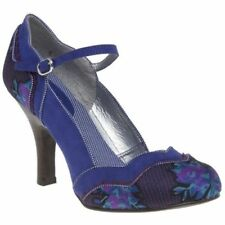 Mary Janes Synthetic Floral Heels for Women