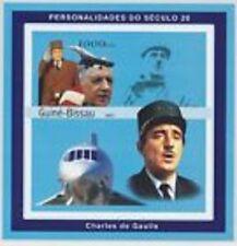 GUINEE BISSAU-2001-CH DE GAULLE-1 bloc feuillet neuf NON dentelé