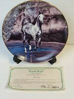 """""""Proud Heart"""" Horse Danbury Mint Limited Edition Collectors Plate w23Kt Gold"""