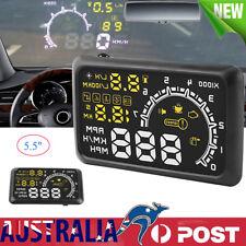 HUD Digital Head Up Display Car Truck Speedometer Warning Engine Speed  Alarm