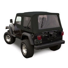 Jeep Wrangler TJ Soft Top, 1997-02, Tinted Windows, Upper Doors, Black Sailcloth