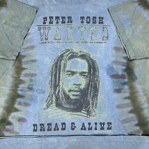 Vintage Peter Tosh Tie Dye Tee Shirt Size Medium Dread Or Alive 03