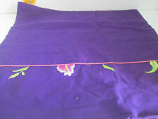 """Purple and Pink Embroidered Floral Pillow Sham Cover 18""""x19"""""""