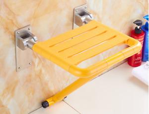 Bathroom Shower Chair Bath Seats Wall Mount Folding Fold up Heavy Duty Tub Bench