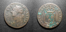 Louis XVI - 1 sol 1791 W, Lille, Ier semestre sans point