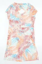 Fat Face Womens Multicoloured Floral  T-Shirt Dress  Size 12  - Palm Leaves