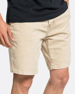 QUIKSILVER Men's Finyl Vinyl Corduroy Straight Fit Stretch Walk Shorts Size : 32