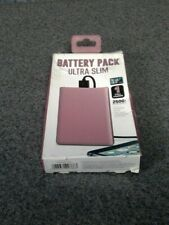 Battery Pack Ultra Slim One Full Charge Pink 2500mah iphone Galaxy Android M18B