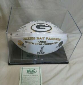 2010 season Green Bay Packers Commemorative Football Superbowl Nikco Limited #