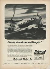 1942 WWII Universal Marine Motors Ad / Liberty Ship Lifeboats / New York City