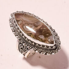 """Fashion Jewelry Ring S-8.75"""" Vr-787 Crazy Lace Agate Vintage Style Gemstone"""