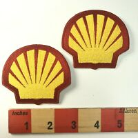 "Pair Of 3"" Patches SHELL OIL & GAS COMPANY Advertising Patch Lot Of 2 00A7"