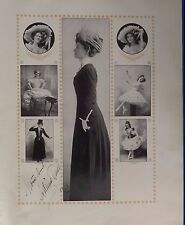 Dame Adeline Genee 1913 autograph signed photo Actress ballet stage broadway