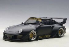 Autoart Porsche RWB 993 1:18 Model Car 78154 Matt Black with Gold Wheels