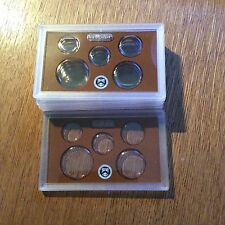 5 Empty Proof Set Plastic Lens Cases  US Mint Holders with cards