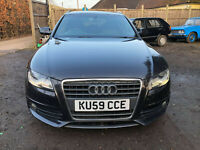 2009 (59) AUDI A4 2.0 TDI S LINE AUTO 141 BHP NO RESERVE SPARES OR REPAIR SLINE