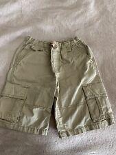 EUC Boys Gymboree Khaki Shorts Youth Size 8 ELASTIC WAISTBAND NO ZIPPER Cotton