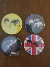 PETE TOWNSHEND & THE WHO BADGES BUTTONS PINBACKS daltrey entwistle keith moon