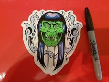 Low Brow Kustom Kulture Art Sticker Hot Rod Shrunken Head Shag Kozik Kruz