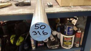50mm diameter x 150mm long 316 stainless steel Round bar (lathe, mill)