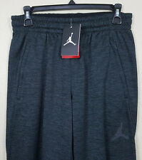 NIKE AIR JORDAN FLIGHT FLEECE PANTS BLACK GREY RARE NEW 821728-010 (SIZE SMALL)