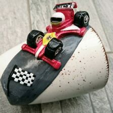 Personalized Race car polymer clay mug