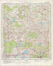 Russian Soviet Military Topographic Maps - KARTUZY (Poland, Pomorskie), ed. 1976