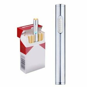 Mini Briquet USB, rechargeable, coupe-vent, electrique, sans flamme, portable